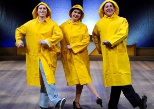 Jonathan Purvis as Cosmo Brown, Rachel Harrison as Kathy Selden and Leon Willey as Don Lockwod