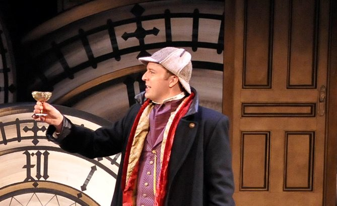 The lead role of Holmes is masterfully handled by Mark Uhre in Sherlock Holmes and the Case of the Christmas Carol.