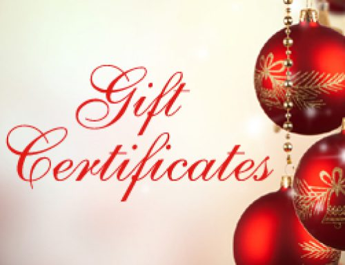 Gift Certificates for Christmas!